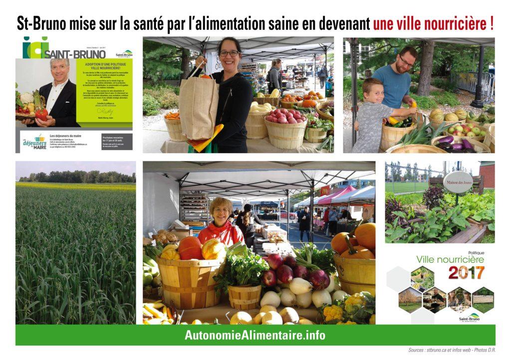 Comment devenir une ville nourricière, l'exemple de Saint-Bruno