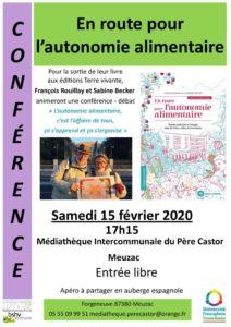 thumbnail of Affiche Conférence Autonomie alimentaire