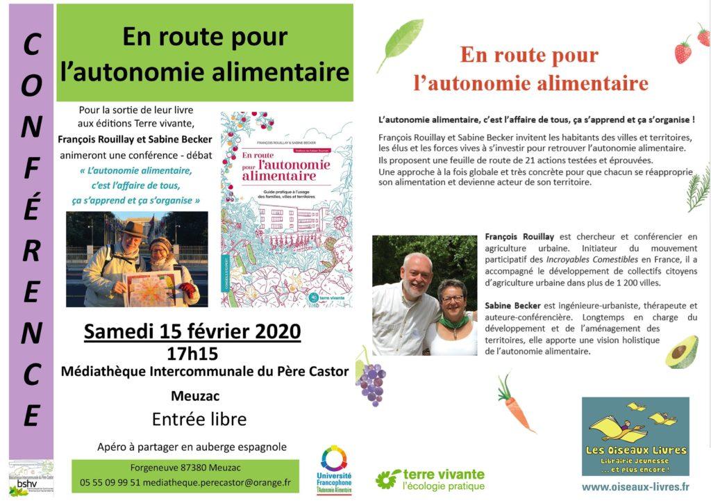 Haute-Vienne, conférence à la médiathèque de Meuzac sur l'autonomie alimentaire