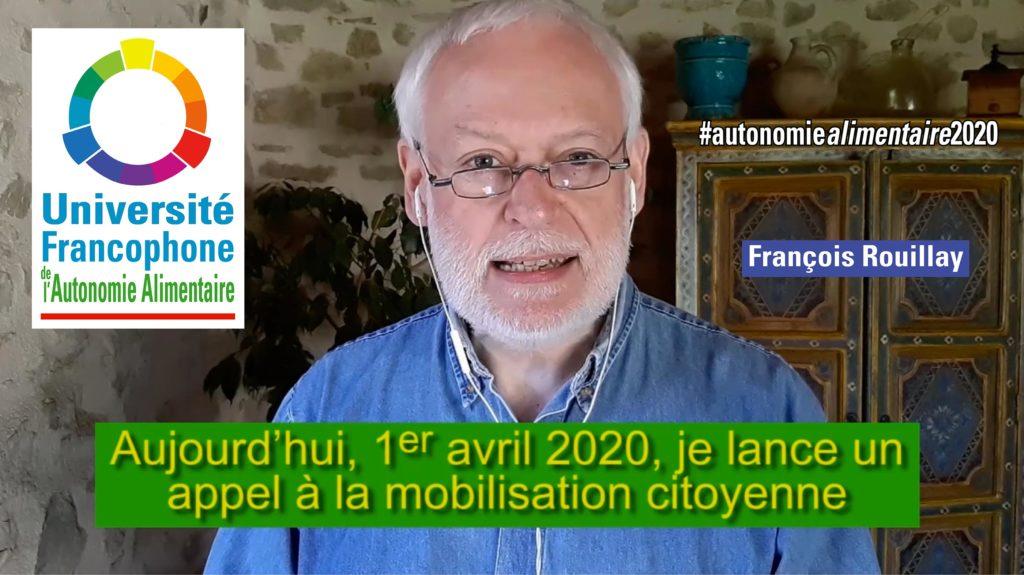 Appel à mobilisation du 1er avril 2020